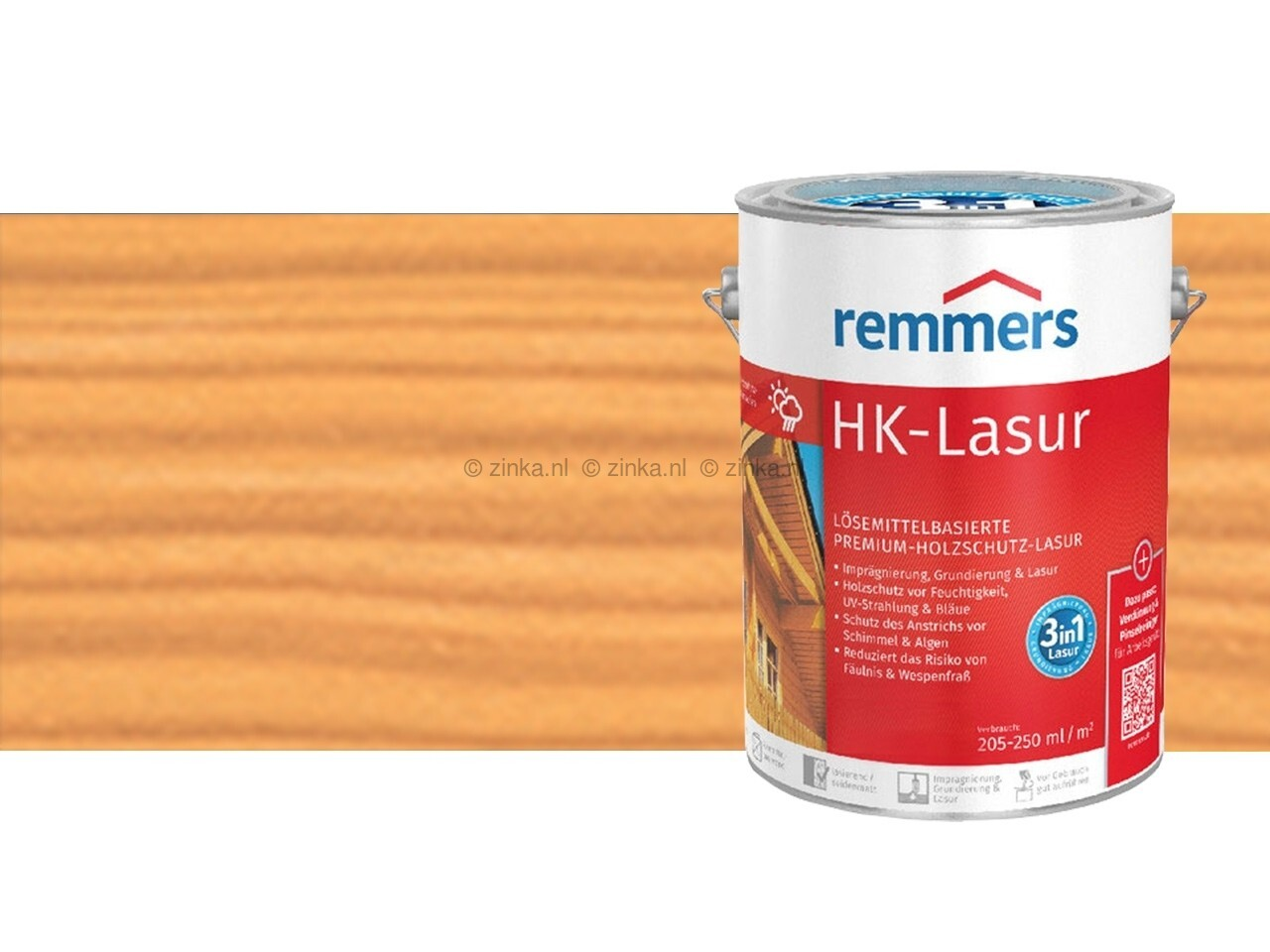 HK-Lazuur Hemlock 100 ml proefverpakking