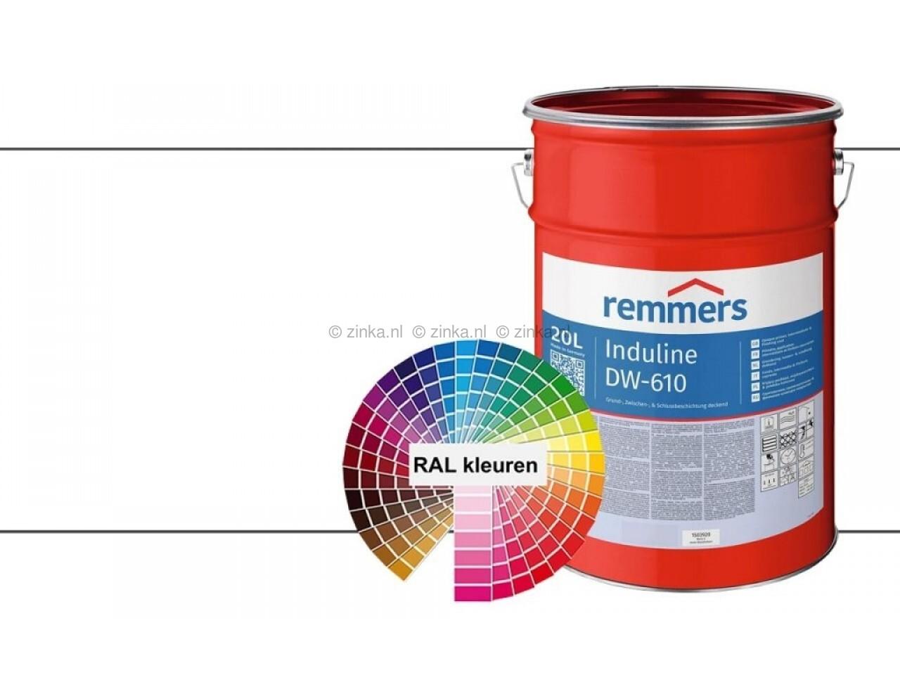 Induline DW 610 RAL kleuren