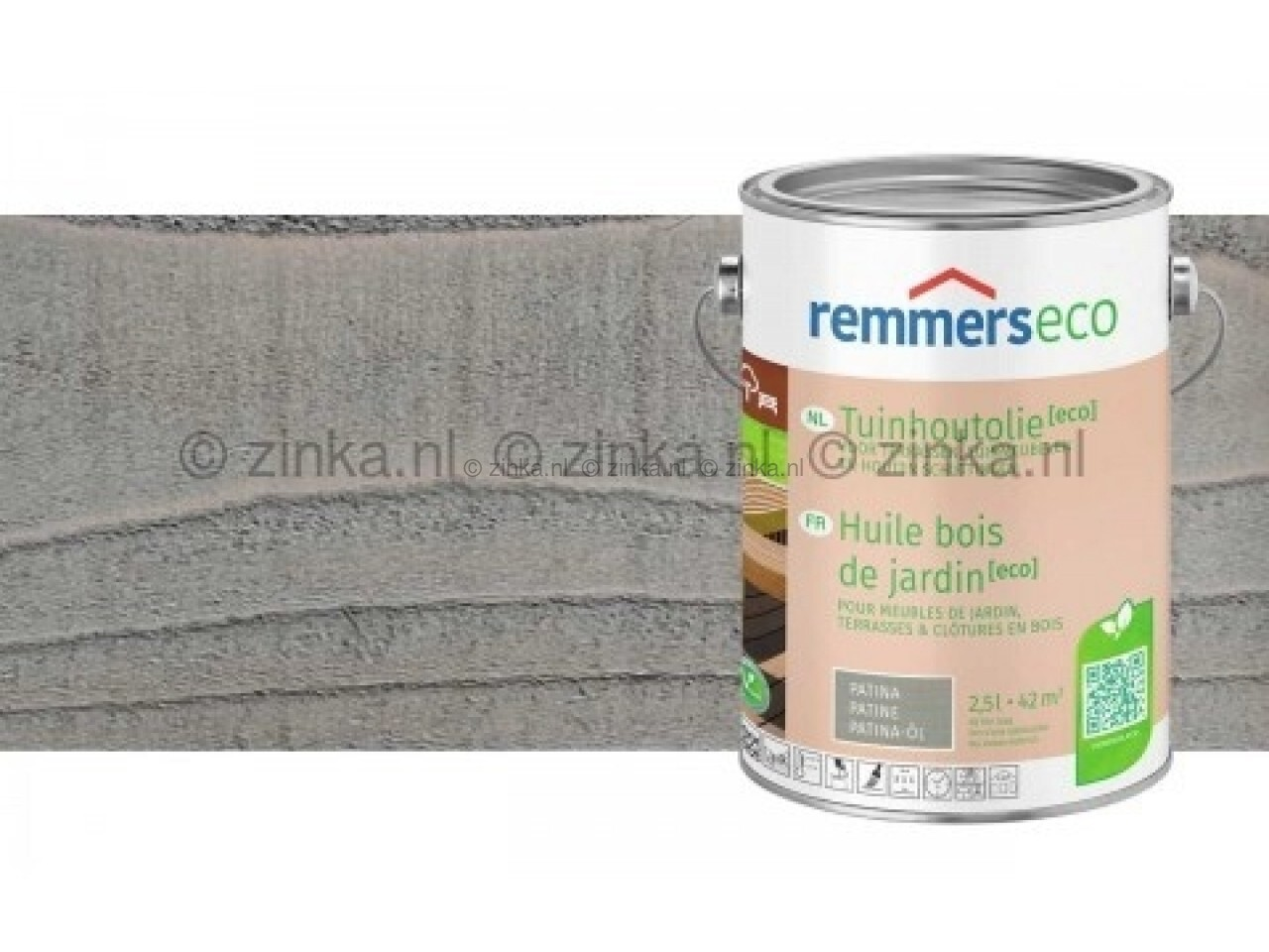 Tuinhoutolie Aqua Eco Platina-100 ml proefverpakking