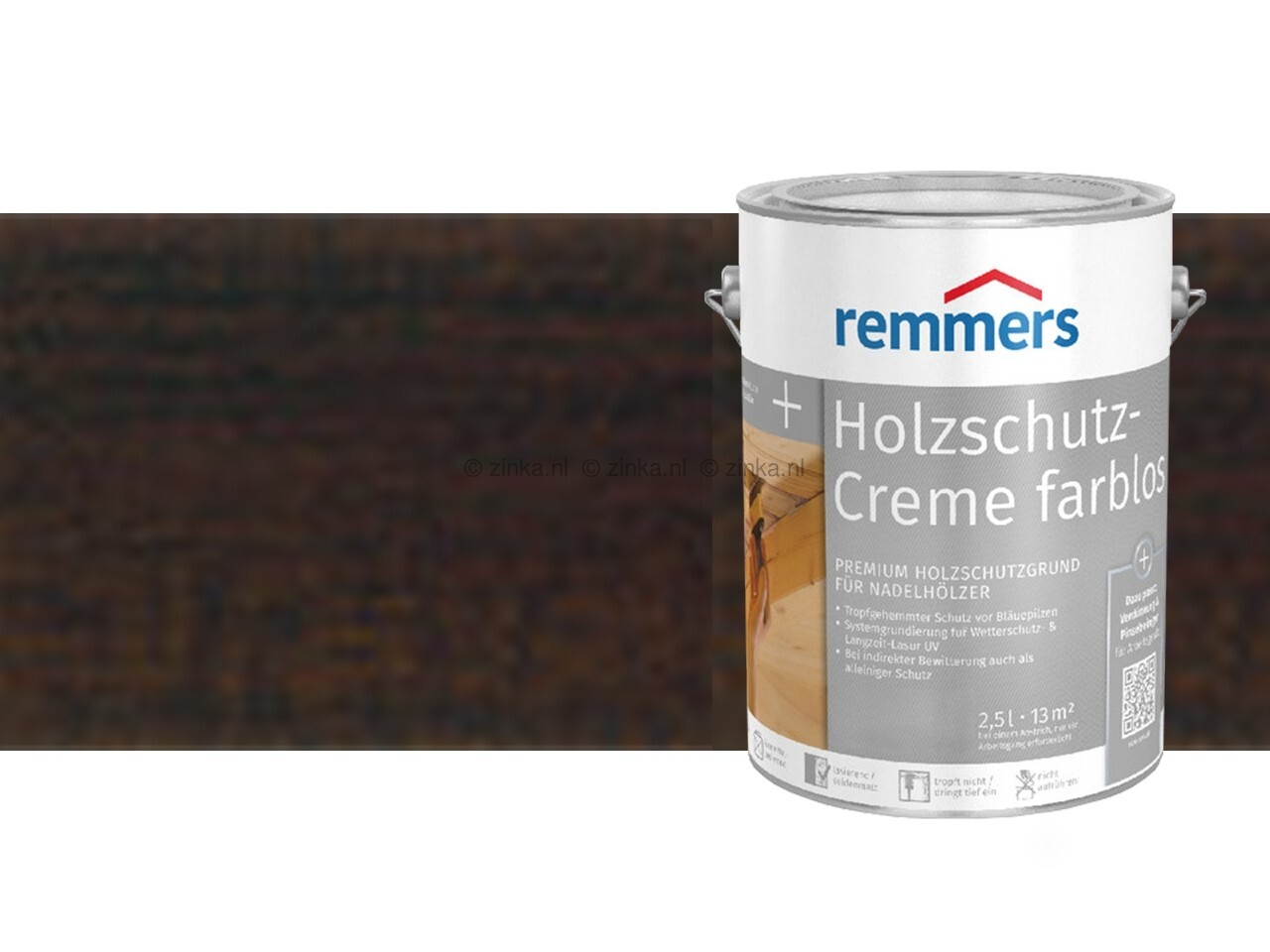 Houtbescherming creme - Palissander 2723-100 ml proefverpakking
