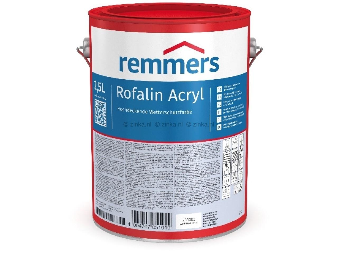Rofalin Acryl RAL Kleuren