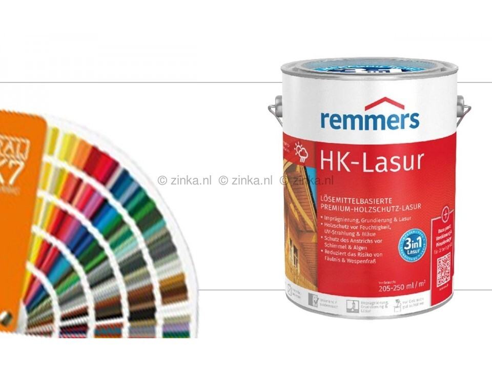 HK-Lazuur RAL kleuren